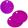 Sequins Hologram 40mm 4mm Hole Round Fuchsia